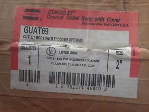 New Guat69 Crouse Hinds 2 Explosion Proof Conduit 3 Hub T Outlet Body