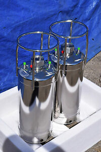 New Qty 2 Alloy Products Stainless Steel Pressure Vessel 155 Psi ports 316l Ss