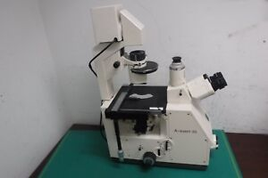 Zeiss Axiovert 35 Inverted Phase Contrast Microscope No Objective Lens _a Keep_