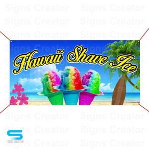Hawiai Shave Ice Banner Business Advertising Banner