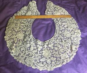 Glorious Antique Large Bertha Lace Collar 19c Intricate Lace Work