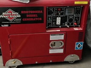 Heavy Duty Power Systems 7000eda 7000watt Diesel Generator