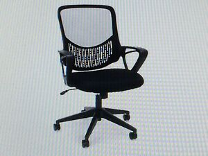 Ofm Black Swivel Mesh Task Chair With Arms Model Ess 100 New In Box