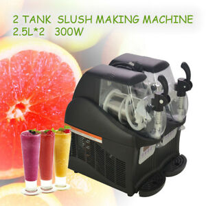 New 300w 2 5l 2 Mini Margarita Slush Frozen Drink Machine Slushy Making Machine