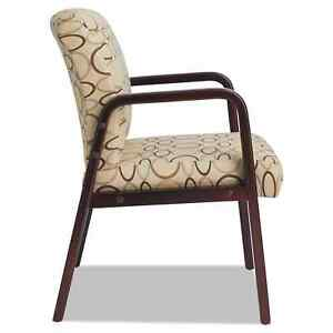 Modern Visitor Guest Office Home Accent Chair Tan Print