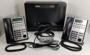 Nec sl1100 Business Office Phone System W Voicemail Dual 12 Button Phones Ip4