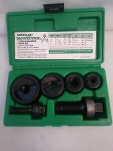 Greenlee Slug Buster Knockout Punch Set 7235bb For 1 2 Thru 1 1 4 Conduit