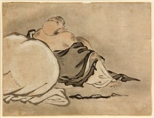 18th Century Japanese Inkwash Drawing