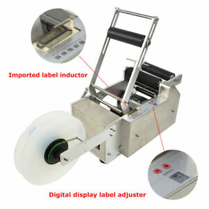 Lt 50s Semi auto Round Bottle Labeling Machine Top Quality Self adhesive 110v