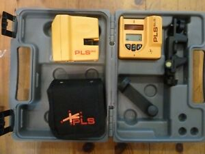 Pls Pls180 Laser Level System With Sld Hand Held Detector And Case