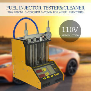 Autool Ct150 Car motorcycle Gasoline Fuel Injector Cleaner Injection Tester Hq