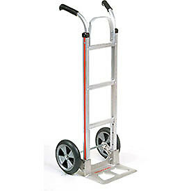 Magliner Aluminum Hand Truck With Double Handle Balloon Wheels Lot Of 1