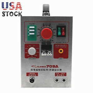 2in1 1 9kw Spot Welder Soldering Iron Staion 709a Battery Welding Machine 60a Us