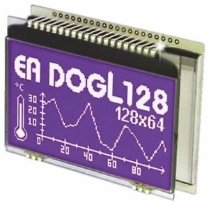 Electronic Assembly Ea Dogl128b 6 Graphic Lcd Display White Yellow green On Bl