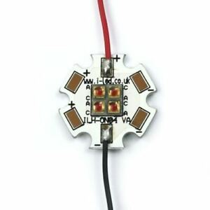 Ils Ilh on04 red1 sc201 wir200 Oslon4 Powerstar Circular Led Array 4 Red Leds