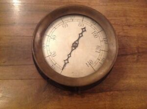 Antique 11 3 4 Crosby Pressure Steam Gauge Steam Brass Philadelphia Electric Co
