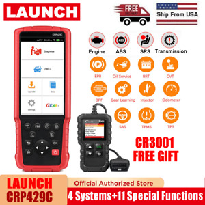 Launch X431 Crp429c Obd2 Scanner Code Reader Abs Srs Epb Oil Tpms Dpf Reset Tool