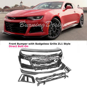 2016 2018 Camaro Front Bumper Cover Grille Zl1 Style Upper Insert W Badgeless