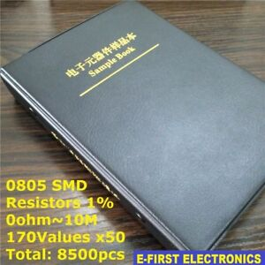 0805 1 Smd Smt Chip Resistors Assortment Kit 170values X50 Assorted Sample Book