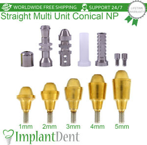 Straight Multi Unit Abutment Kit For Nobel Biocare Active Hex Np Dental