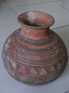 Ancient Huge Size Teracotta Painted Pot Indus Valley 2500 Bc Ik504