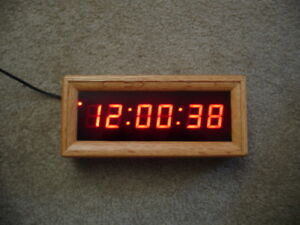 Torpey Time Clock Clk 102 Smpte Time Code 1 Inch Display In Oak Frame