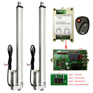 2 Set 16 Linear Actuator Dc12v Motor remote Control Heavy Duty 330lbs Car Boat