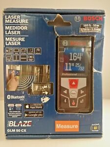 Bosch Glm 50 Cx 165 Ft Laser Measure With Bluetooth And Full color Display Nib