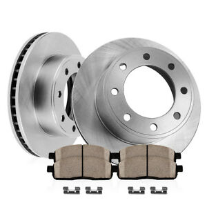 Front 355 Mm Brake Disc Rotors And Ceramic Pads For Chevy Gmc Sierra Silverado