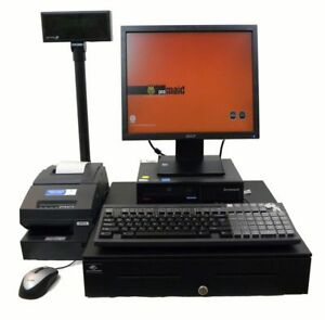 Full Touch Screen Cash Register Point Of Sale Lenovo 2 6ghz Winxp