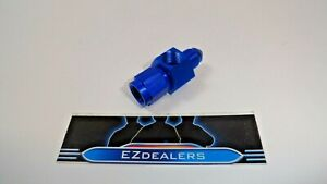 Gauge Pressure Oil Fuel Inline Adapter Fitting 4an Female To Male Blue