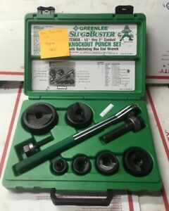 Nos Greenlee Slugbuster 7238sb 1 2 2 Ratcheting Knockout Punch Set 6287