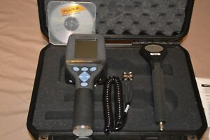 Fluke Advanced Survey Meter Asm 990s With Gm Pancake Probe 489 110d And Case