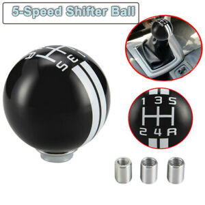 1x Black Manual Car Gear Shift Knob Shifter Refit Fit Ford Mustang Gt500 5 Speed