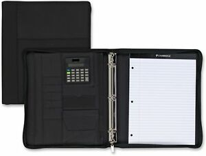 Cambridge Zipper 3 ring Binder With Notepad Calculator 200 Sheets 8 1 2 X