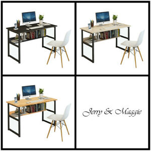 J m Computer Desk Pc Laptop Table Workstation Study Home Office Wood Furniture