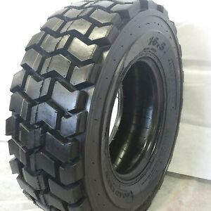 1 New 10x16 5 Road Crew Aiot30 Hd Super Heavy Skid Steer Tires 12 Ply For Bobcat