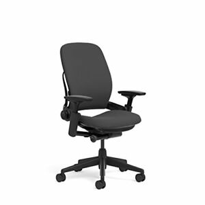 Steelcase Leap Task Chair Black Base 4d Adjustable Arms No Headrest