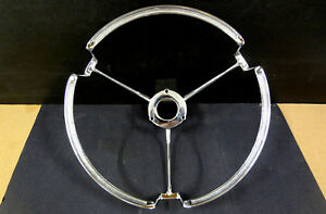 1956 Mercury Montclair Only Steering Wheel Full Circle Horn Ring 56 Convertible
