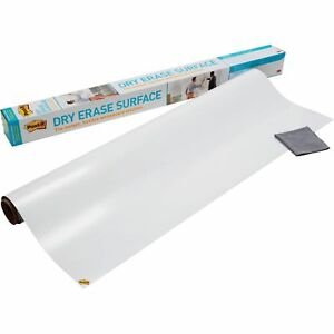 Post it Super Sticky Self stick Dry Erase Film Surface White 3 X 2 ft 6 Sq