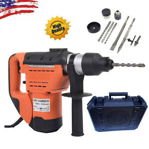 Us 1 1 2 1000w Sds Electric Rotary Hammer Drill demolition Bits Variable Speed