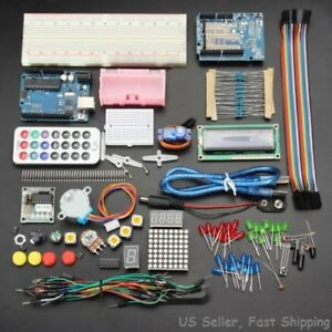 Geekcreit Uno R3 Basic Starter Learning Kit For Arduino No Battery Us Seller