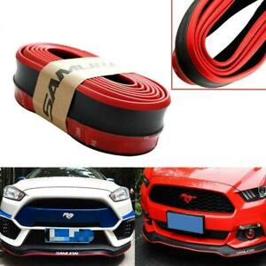8ft Front Bumper Lip Splitter Chin Body Protection Wing Kit For Ford Mustang