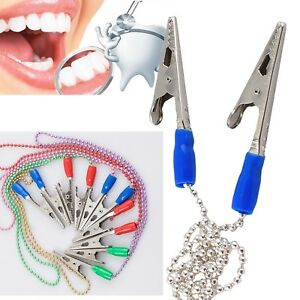 A Colorful Clips Flexible Chain Dental Bib Clips Holding Napkin Holder Reliable