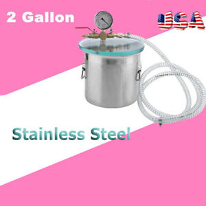 2 Gallon Vacuum Chamber And 3cfm Single Stage Pump Degassing Silicone Kit B2