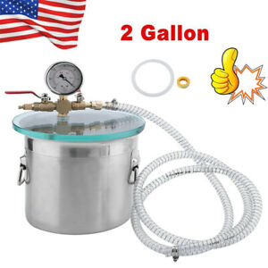 2 Gallon Stainless Steel Degassing Vacuum Chamber With 3cfm Vacuum Pump Usa B2