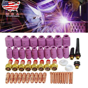 51pcs Tig Kit Tig Welding Torch Consumables Fit Wp 17 18 26 Series Us Seller