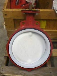 Bray Resilient Seated Butterfly Valve Ptfe Disc 12 In Wafer Series 22