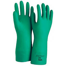 Sol vex Unsupported Nitrile Gloves Green Large 1 Pair Lot Of 12
