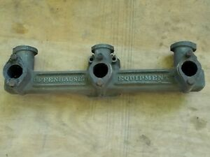 Offy Offenhauser Chevy Chevrolet 3 2 Triple Intake Manifold 6 Cyl 235 261